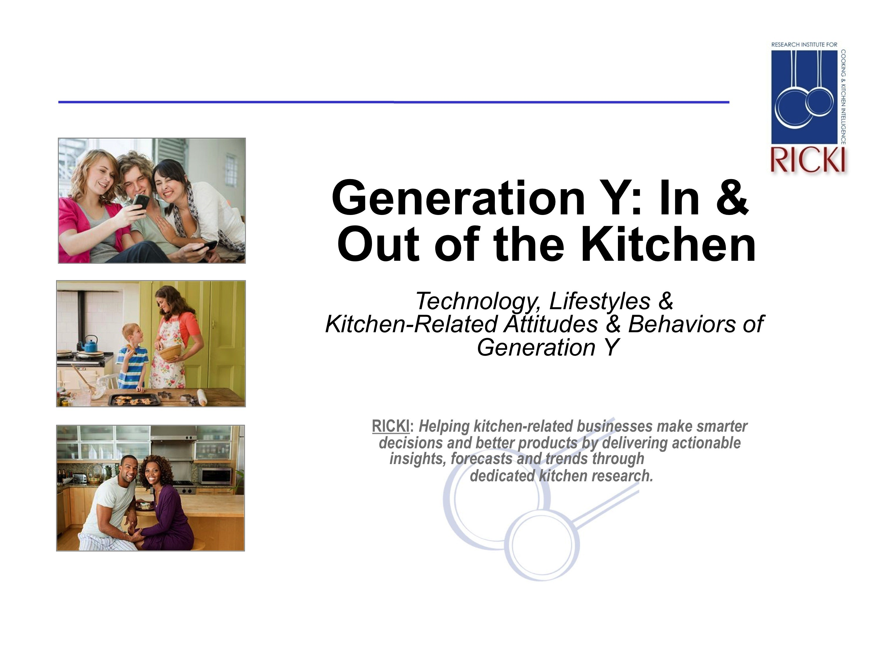 generation y research report part in out of the kitchen generation y in out of the kitchen