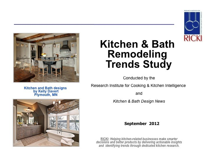 Kitchen research report kitchen bath remodeling trends for Trend bathroom and kitchen