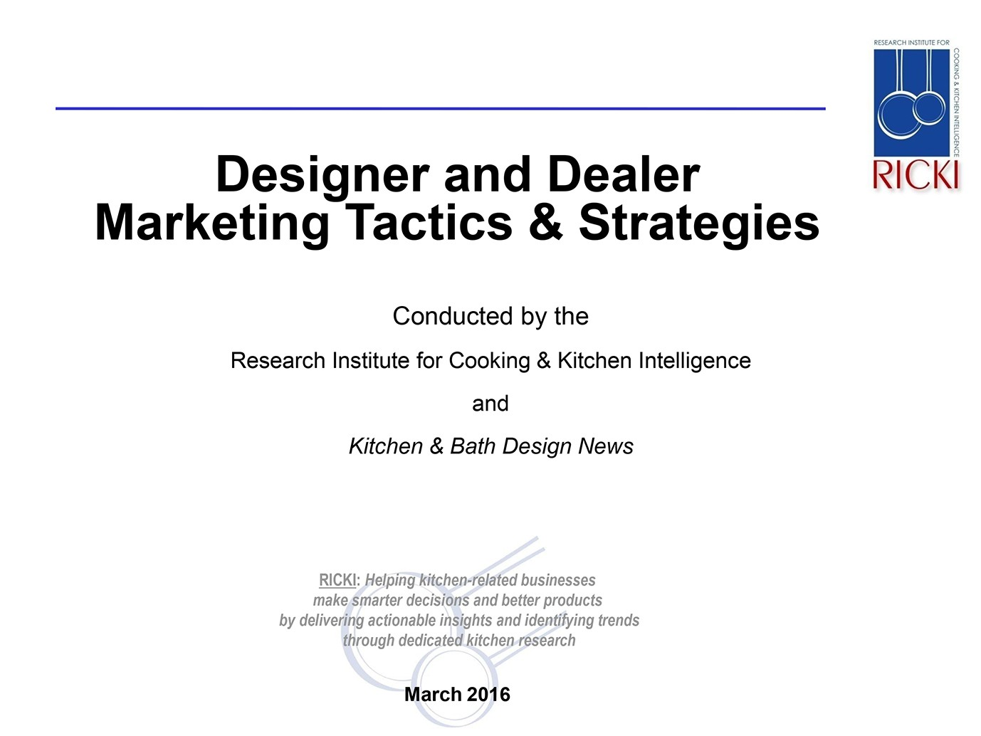 Designer and Dealer Marketing Tactics & Strategies