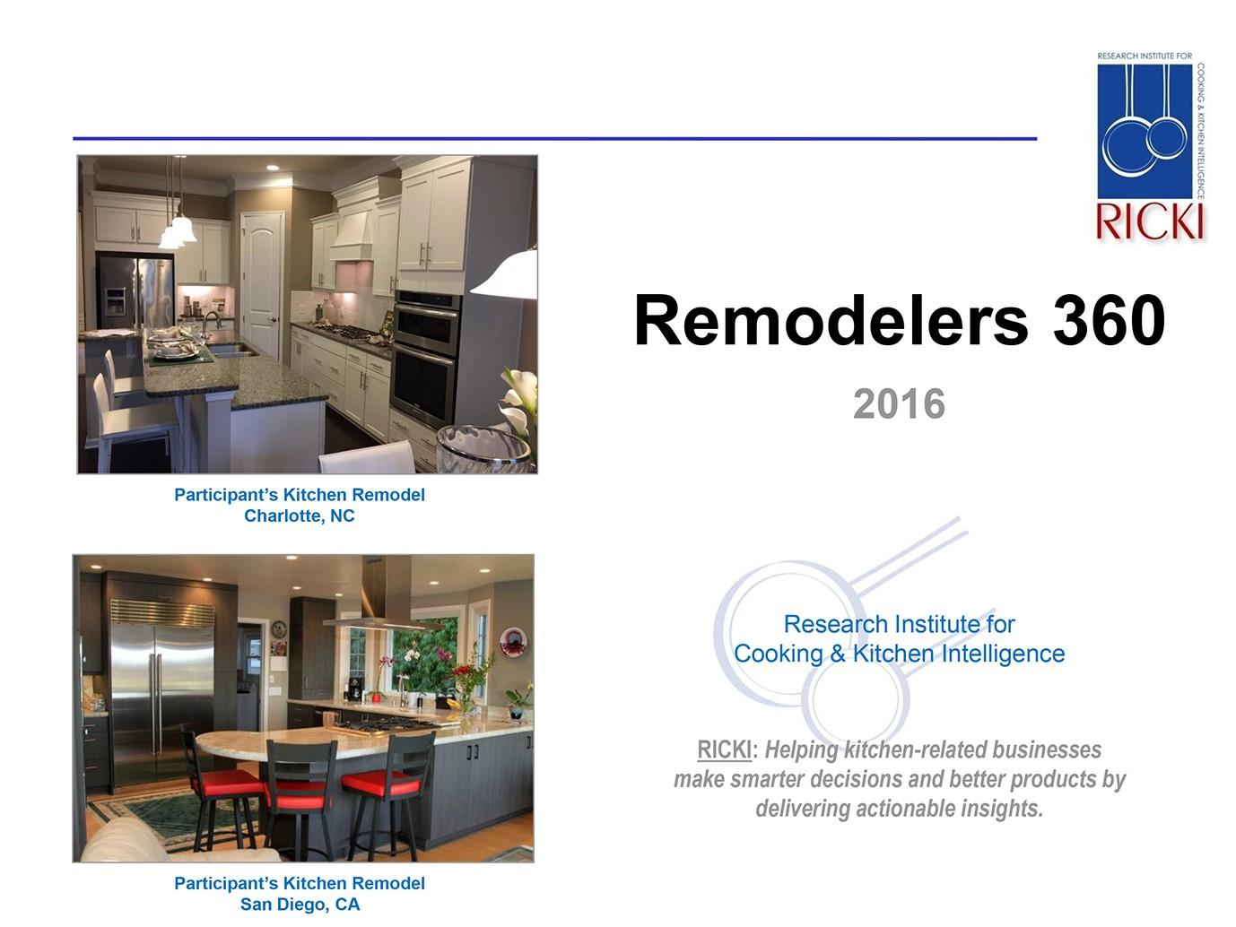 Remodelers 360 Report - 2016
